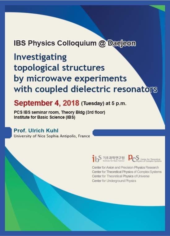 [IBS Joint Colloquium] Investigating topological structures by microwave experiments with coupled dielectric resonators 사진